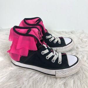 Converse Block Party Hi Top Shoes Girls Ruffles 12